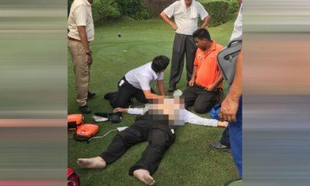 Lelaki mati ketika main golf