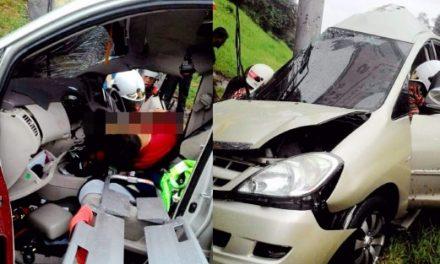 Lelaki maut, penumpang parah MPV rempuh tiang