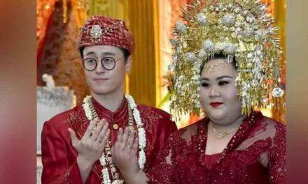 Wanita Indonesia kahwin lelaki Korea idamannya, tidak peduli dibuli netizen