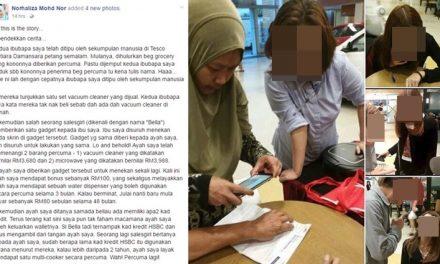 WARGA EMAS DITIPU JURUJUAL DI TESCO MUTIARA DAMANSARA, KATA PERCUMA TAPI LESAP RM3,988