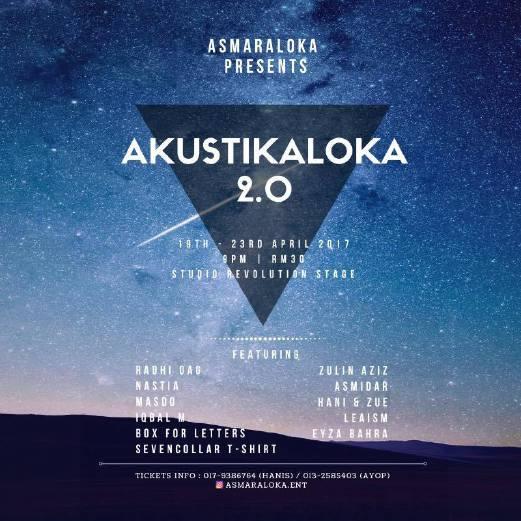 11 artis gegar Akustikaloka 2.0