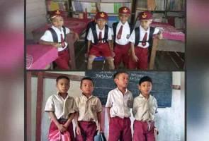 Murid daerah terpencil Kalimantan terkejut Jokowi hantar bantuan lebih daripada diminta