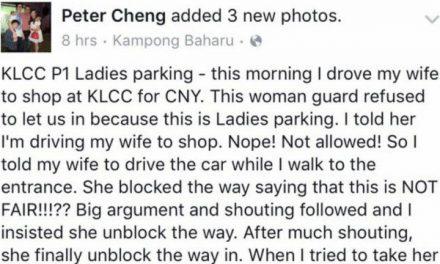 Dikutuk netizen selepas kecam pengawal keselamatan KLCC