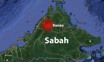 Gempa bumi lemah 2.5 Skala Richter gegar Ranau pada pukul 4.46petang tadi!