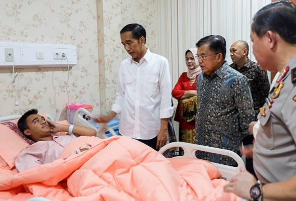 Presiden Indonesia lawat mangsa cedera dalam serangan bom
