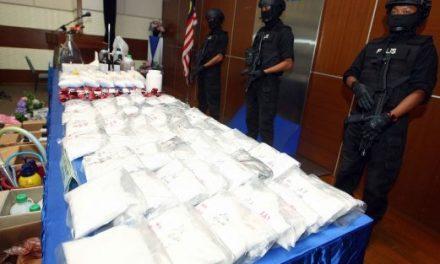 3 sindiket dadah tumpas, 10 lelaki ditahan